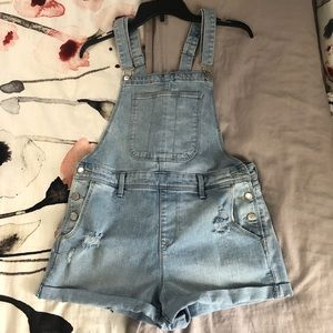 Old navy distressed shortalls